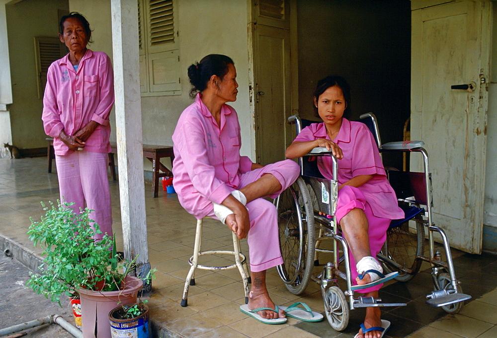 Leprosy patients at the Sitanala Hospital, Jakarta, Indonesia