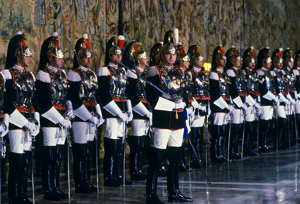 Guard of Honour at Quirinale Palace, Rome, Italy.