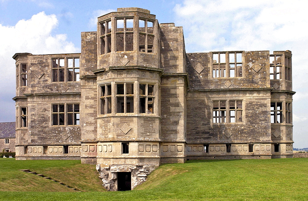 Work on building Lyveden New Bield - an Elizabethan garden lodge house - was started in 1595 but work stopped in 1605 when the owner - Sir Thomas Tresham died.  After nearly four centuries The National Trust has taken on the Elizabethan house and has spent seven years renovating it.