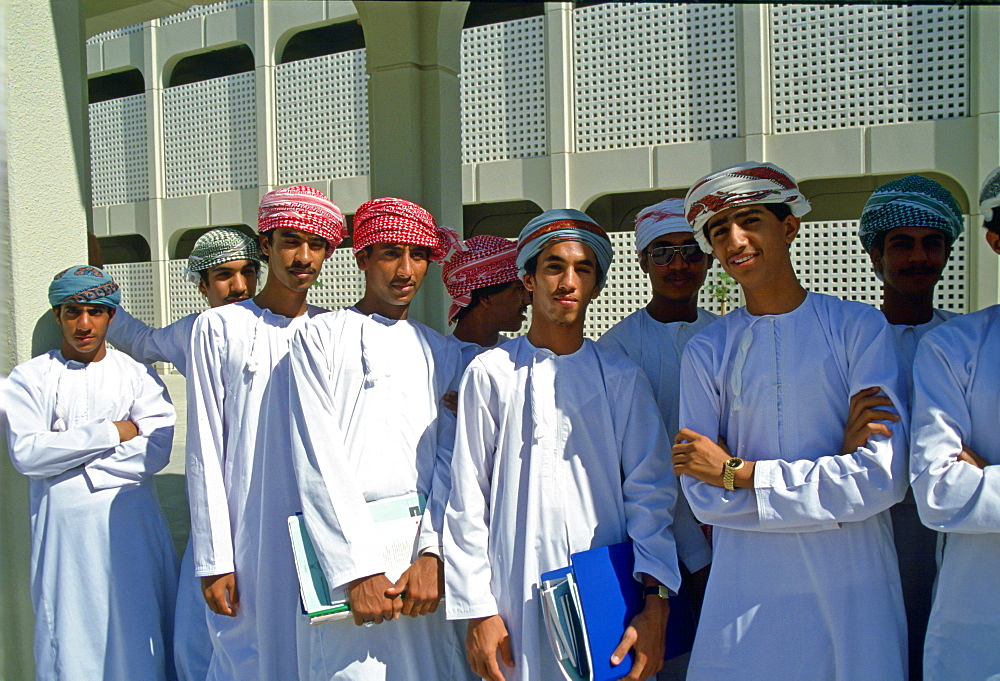 Students, Oman University.