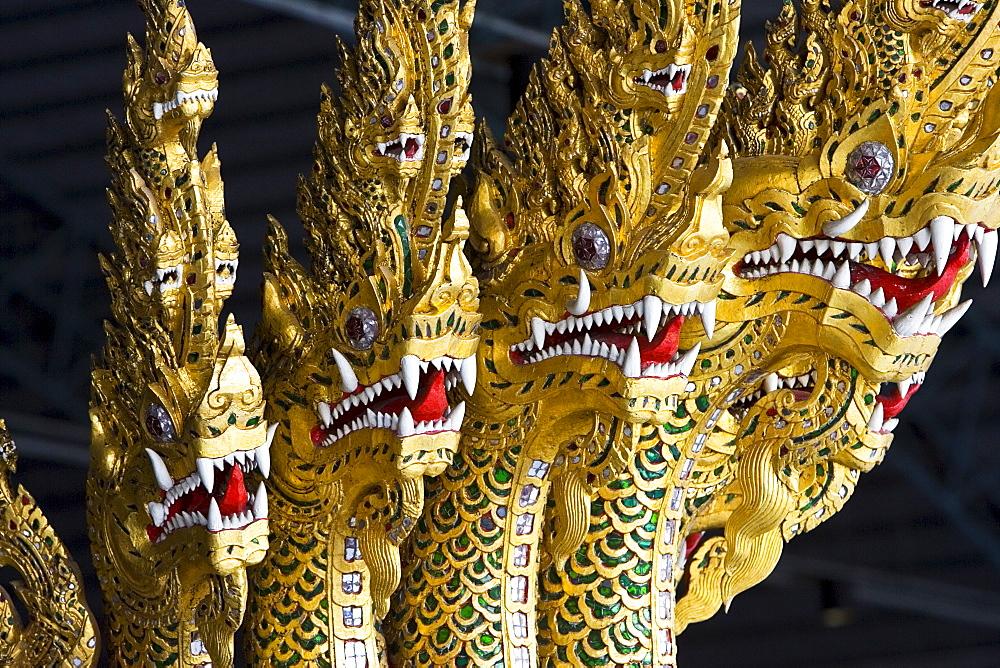 Ananta Naganaj figurehead at the Royal Barge Museum in Bangkok, Thailand - 1161-2826
