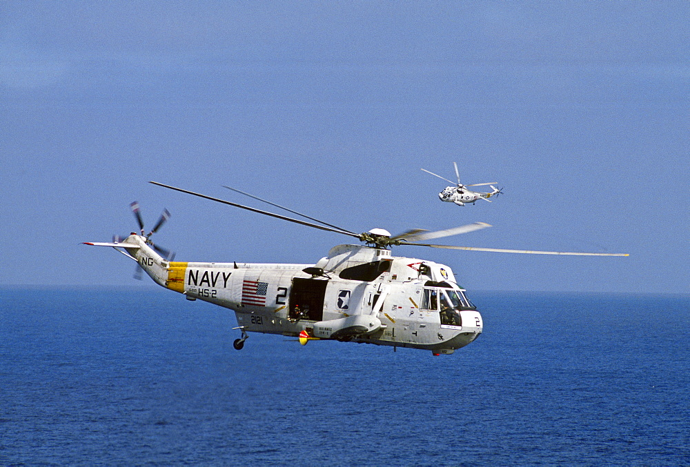 Helicopter from aircraft carrier USS Nimitz, Los Angeles, United States.