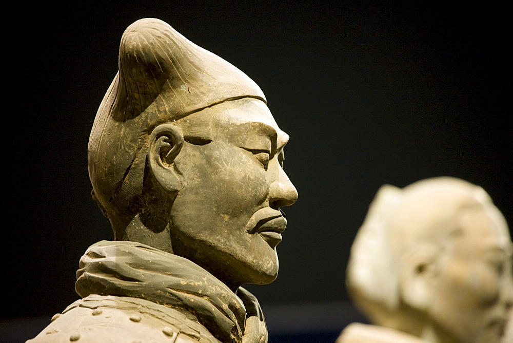 Terracotta warrior on display in the Shaanxi History Museum, Xian, China - 1161-3265