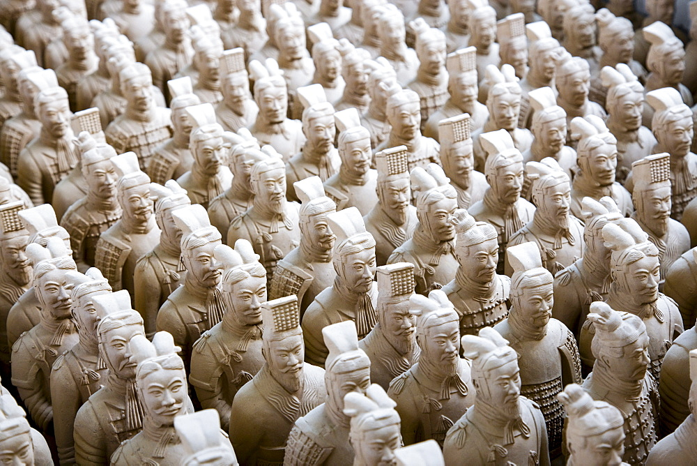 Terracotta Warrior souvenirs being made in factory, Xian, China