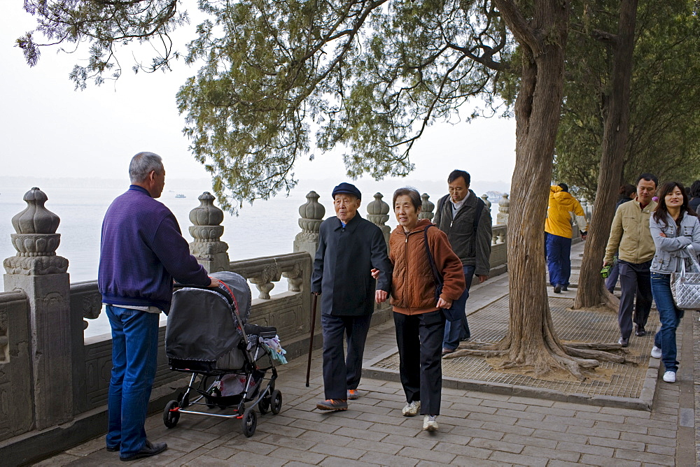 Tourists at The Summer Palace, Beijing, China
