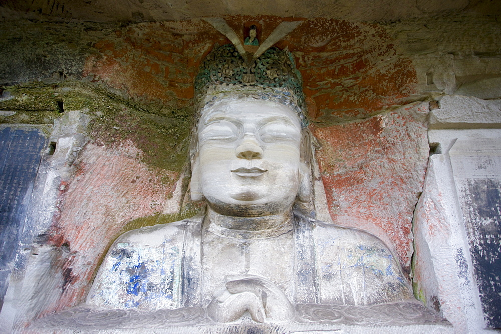 Buddha of Great Sunlight, the Chief Buddha, Dazu rock carvings, Mount Baoding, near Chongqing, China