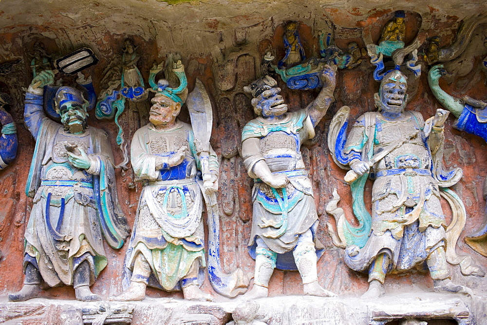Dazu rock carvings at Mount Baoding, Chongqing, China