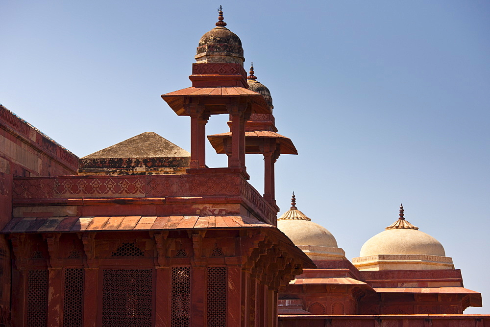 Fatehpur Sikri 17th Century historic palace and city of the Mughals, UNESCO World Heritage Site at Agra, Northern India