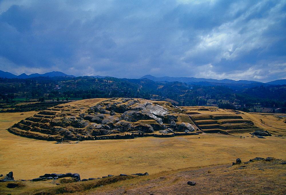 Sacsayhuaman Inca ruins of stone fortress outisde Cuzco, South America