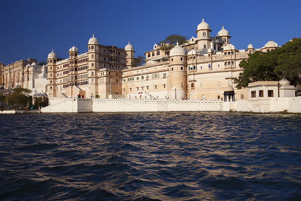 The City Palace Complex and Shiv Niwas Palace Hotel owned by 76th Maharana of Mewar, His Highness, Shreeji Arvind Singh Mewar of Udaipur, Rajasthan, India
