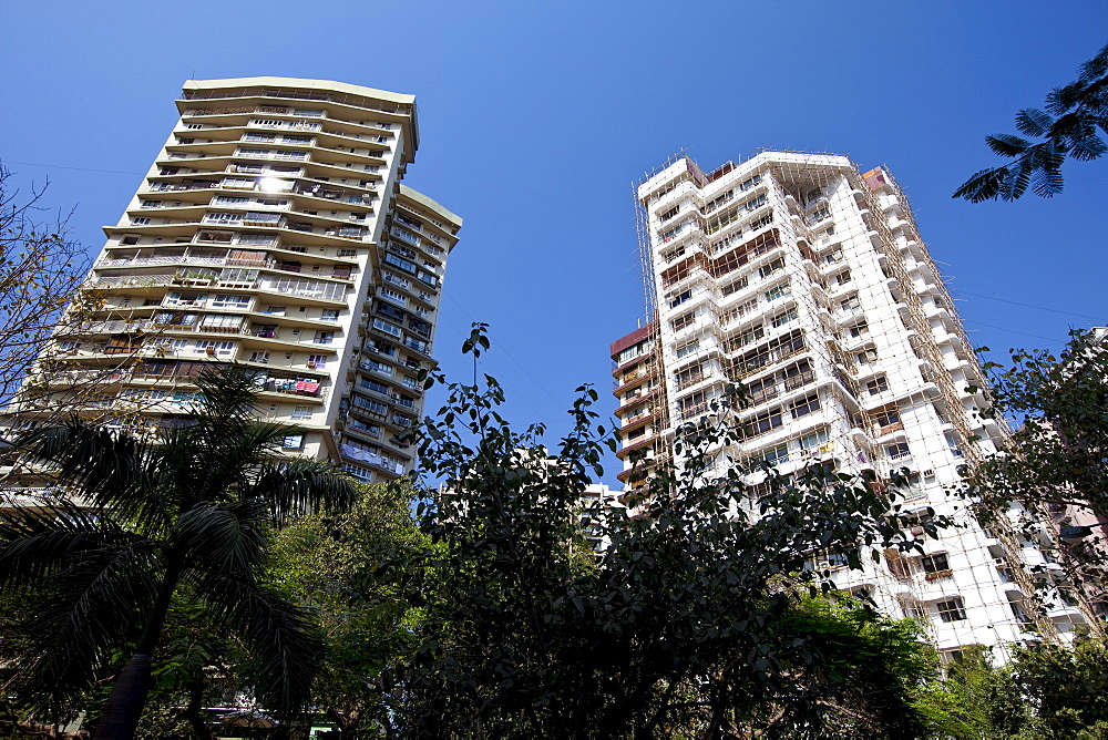 High rise development at Cuffe Parade in South Mumbai, India, where  the thriving Indian economy is evident