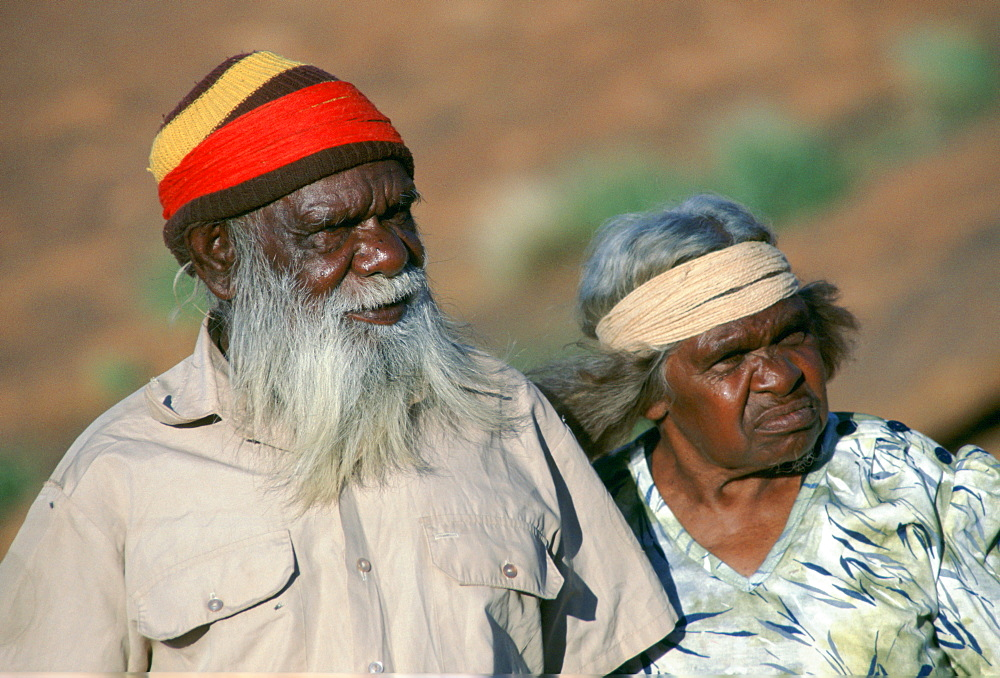 Aborigines at Ayers Rock in the Northern Territory in Australia