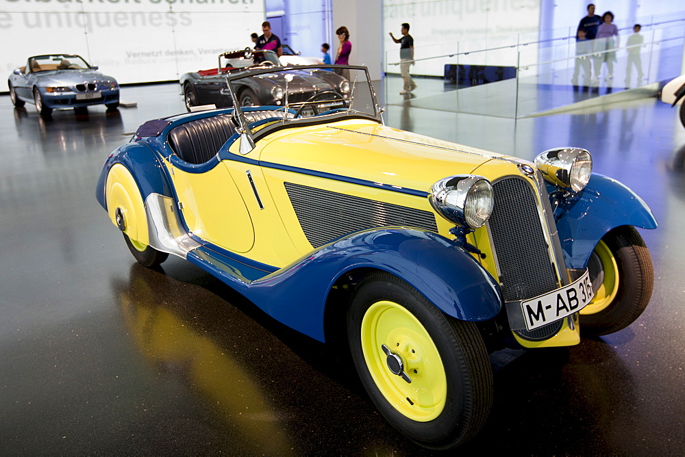 BMW 315 1934 model car on display  at the BMW Museum and Headquarters in Munich, Bavaria, Germany