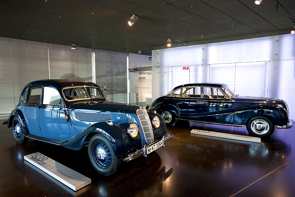 BMW 1939 335 model car on display  at the BMW Museum and Headquarters in Munich, Bavaria, Germany
