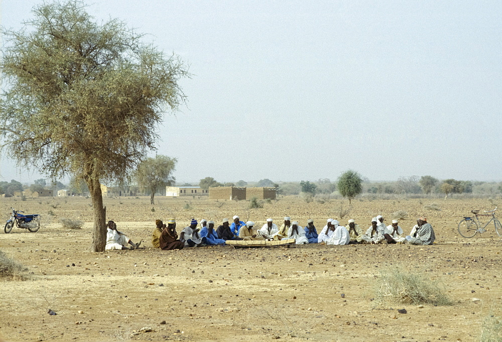 Funeral in the Sahara Desert in Burkina Faso, formerly Upper Volta