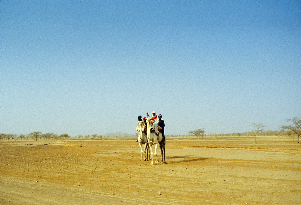 Touareg tribesmen in the Sahara Desert in Burkina Faso, formerly Upper Volta