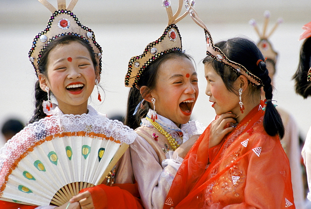 Chinese traditional dancers in Shanghai, China - 1161-7447