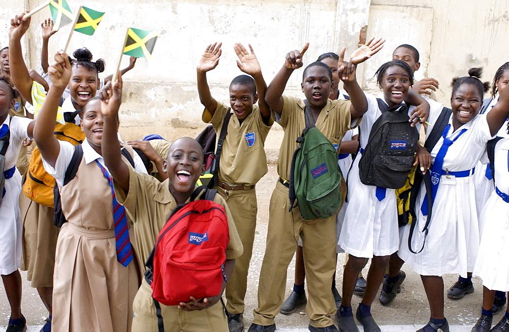Schoolchildren in Trenchtown, Jamaica