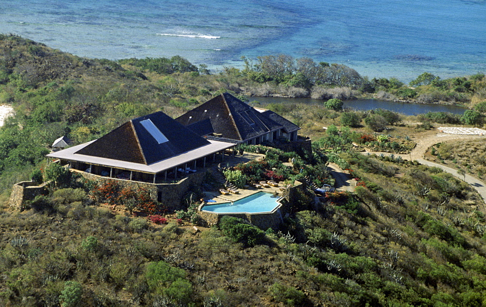 Sir Richard Branson's island home, Necker Island, in the British Virgin Islands in the Caribbean