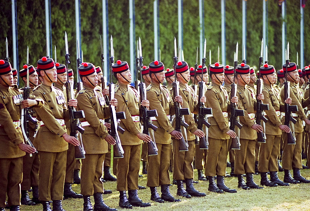 Military parade of Nepalese Army in Kathmandu, Nepal