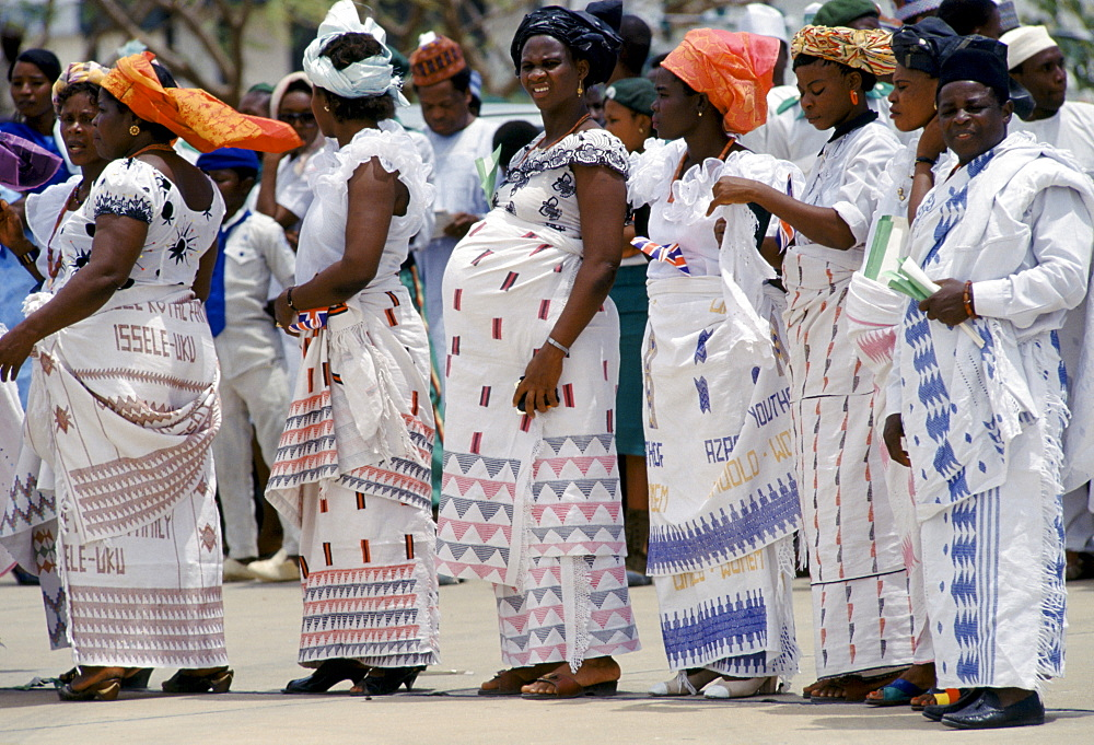 Nigerian women, one pregnant, attending a tribal gathering durbar cultural festival at Maiduguri in Nigeria, West Africa