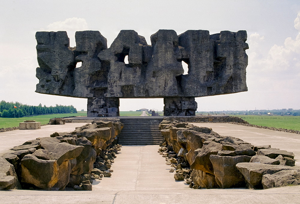 Memorial to the holocaust victims at Majdanek Concentration Camp, Poland