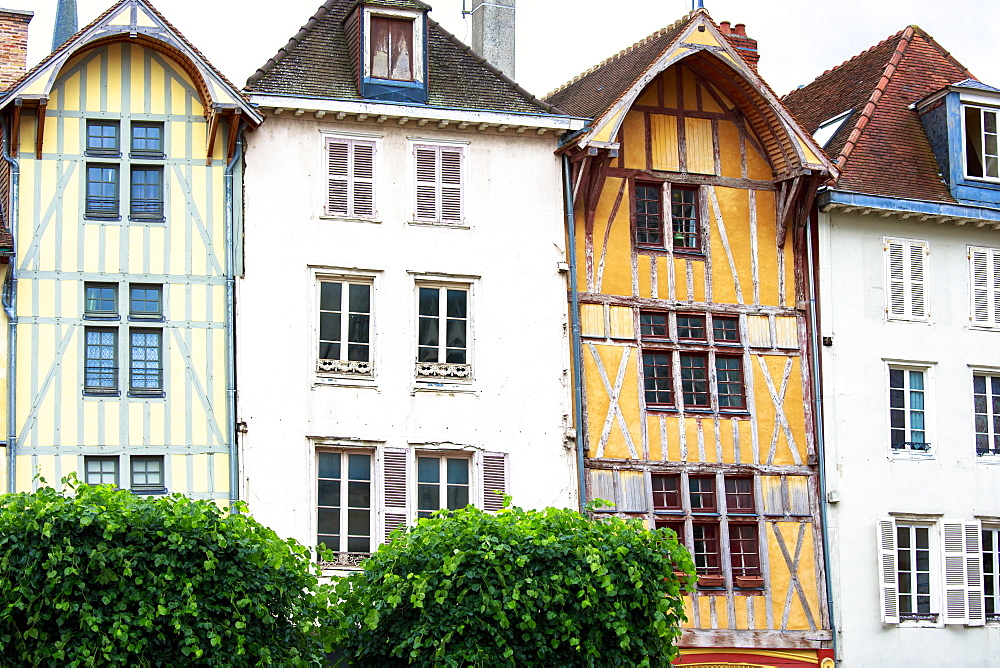 Traditional medieval timber-frame architecture at Troyes in the Champagne-Ardenne region, France, Europe