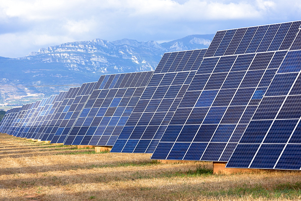 A field of solar panels in La Rioja, Northern Spain, Europe - 1161-8431