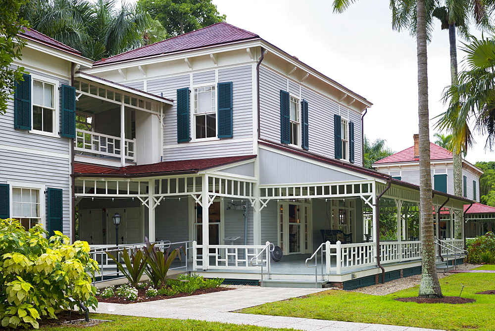Winter estate home, Seminole Lodge, of magnate Thomas Edison at Fort Myers, Florida, USA