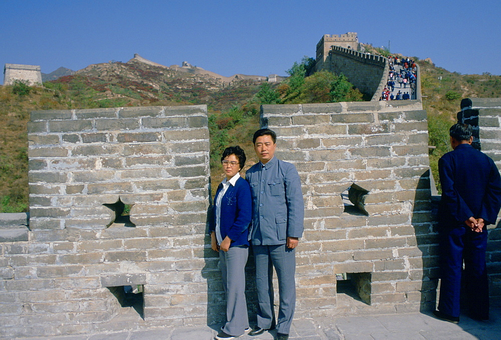 Chinese visitors at the Great Wall of China in Beijing