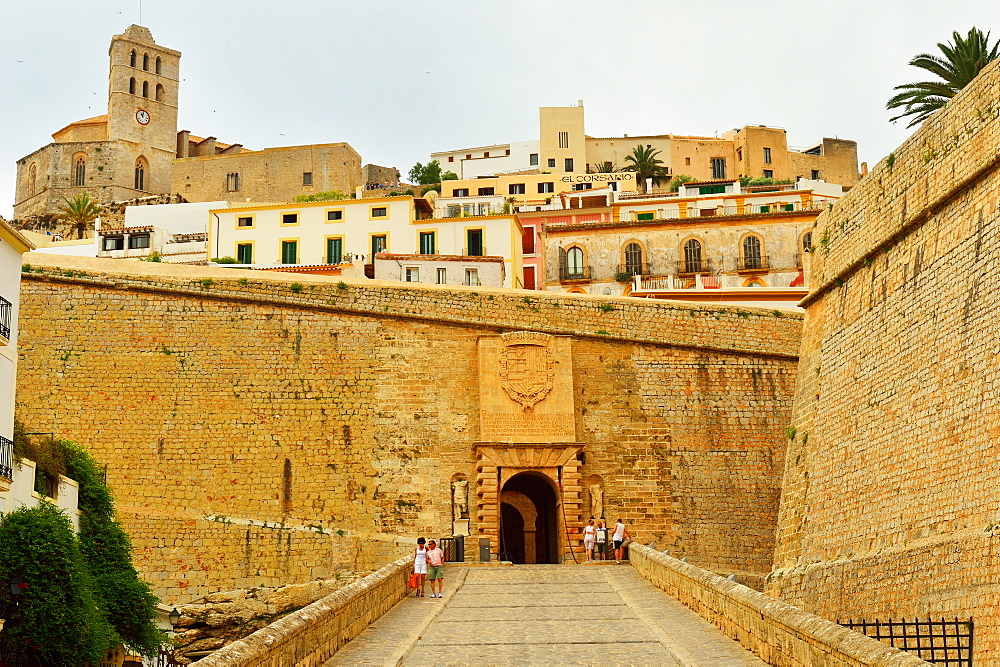 Ibiza, entrance to the old town, UNESCO World Heritage Site, Ibiza, Balearic Islands, Spain, Mediterranean, Europe