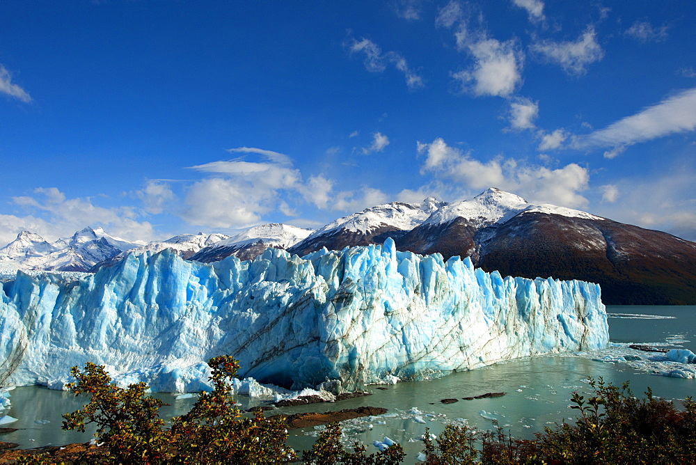 Perito Moreno glacier, front of the glacier over the Argentino lake, Santa Cruz province, Patagonia, Argentina, South America