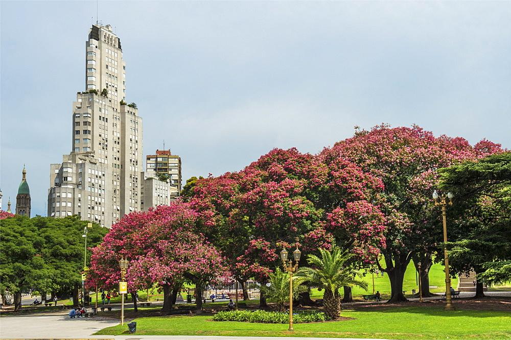 Kavanagh building, San Martin Park, Buenos Aires City, Argentina, South America