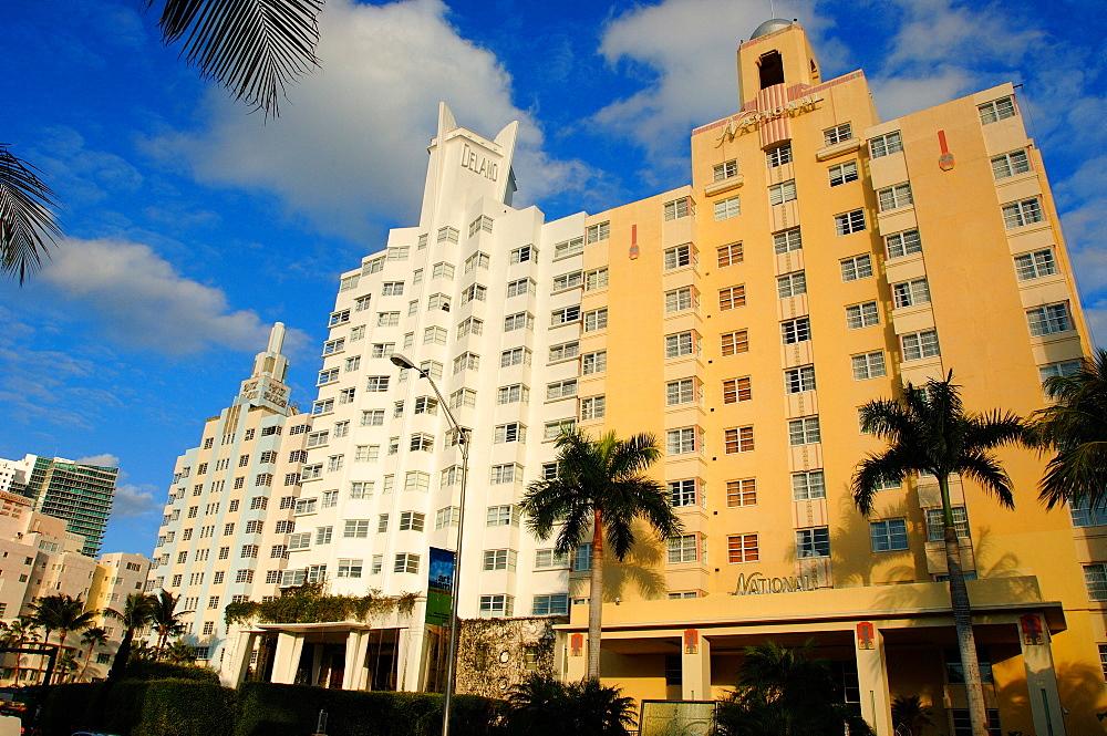 Delano Hotel, National Hotel and Ritz Hotel, South Beach, Miami, Florida, United States of America, North America