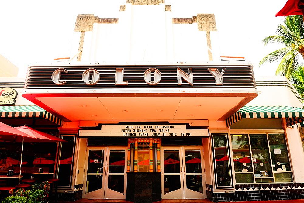 Colony Theatre, Lincoln Road, South Beach, Miami, Florida, United States of America, North America