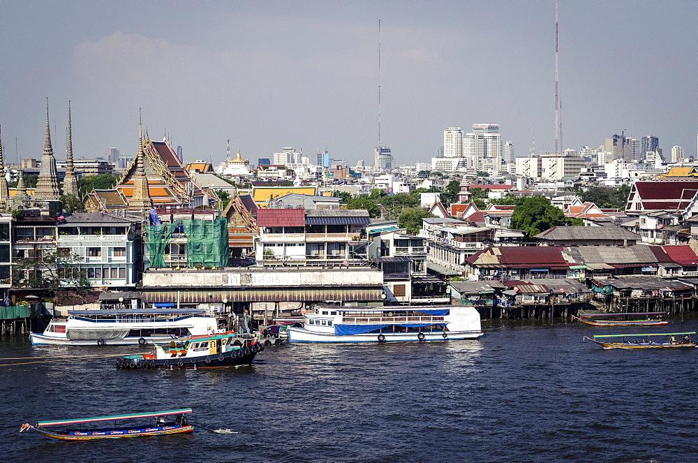 Chao Phraya River, Bangkok, Thailand, Southeast Asia, Asia  - 1163-30