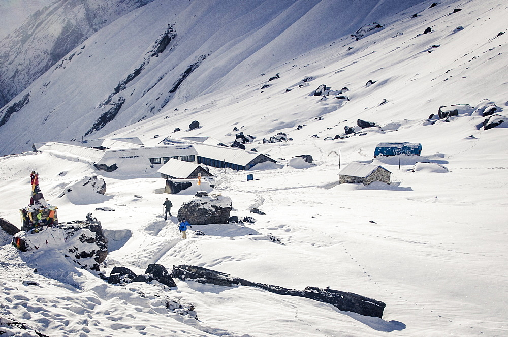 Annapurna Base Camp, 4130m, Annapurna Conservation Area, Nepal, Himalayas, Asia  - 1163-80