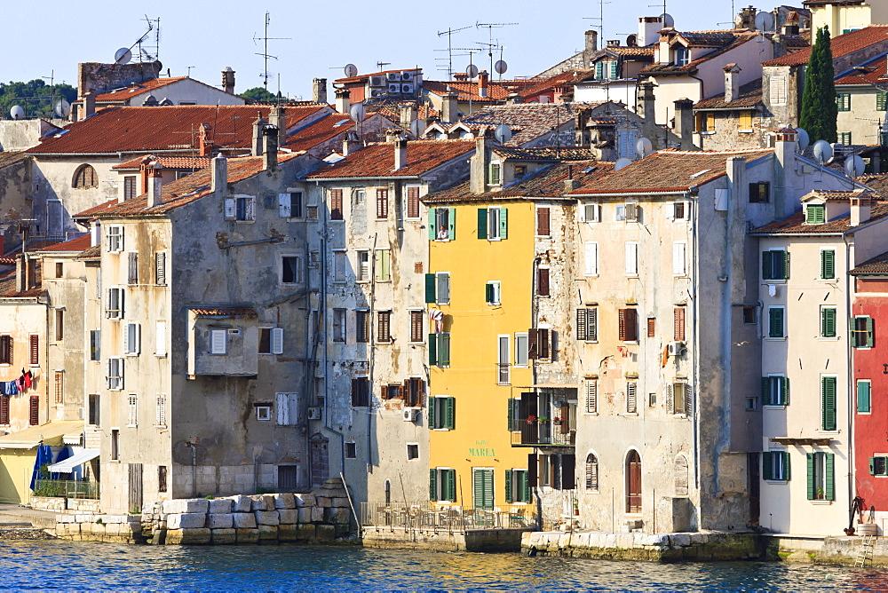 Old town from the sea, Rovinj (Rovigno) peninsula, Istria, Croatia