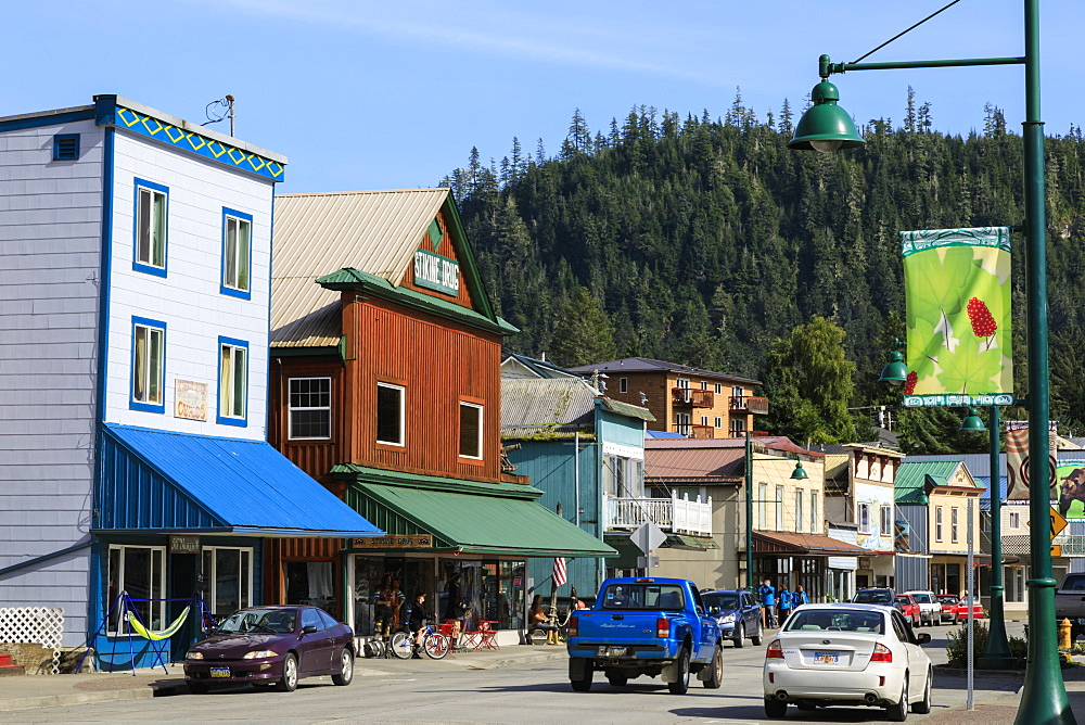 Historic Wrangell, outback pioneer port and fishing community, gateway to Stikine River, Inside Passage, Southeast Alaska, United States of America, North America