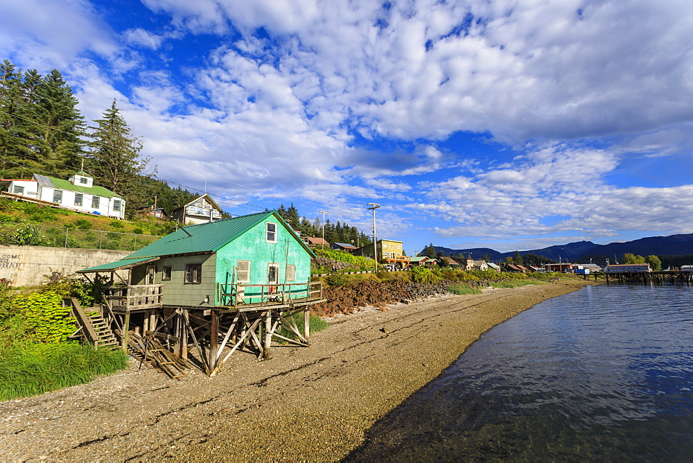 Hoonah, shoreline, Tlingit Community, Icy Strait Point, Summer, Chichagof Island, Inside Passage, Southeast Alaska, USA