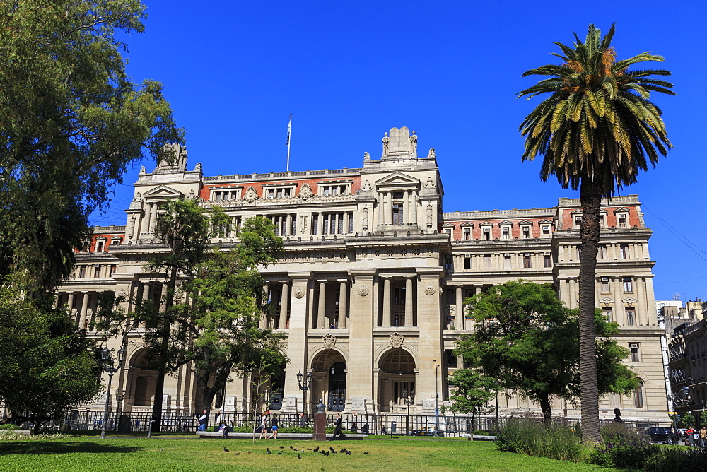 Palacio de Justicia, Beaux-arts structure, Supreme Court home, Plaza Lavalle, Congreso and Tribunales, Buenos Aires, Argentina, South America - 1167-1896