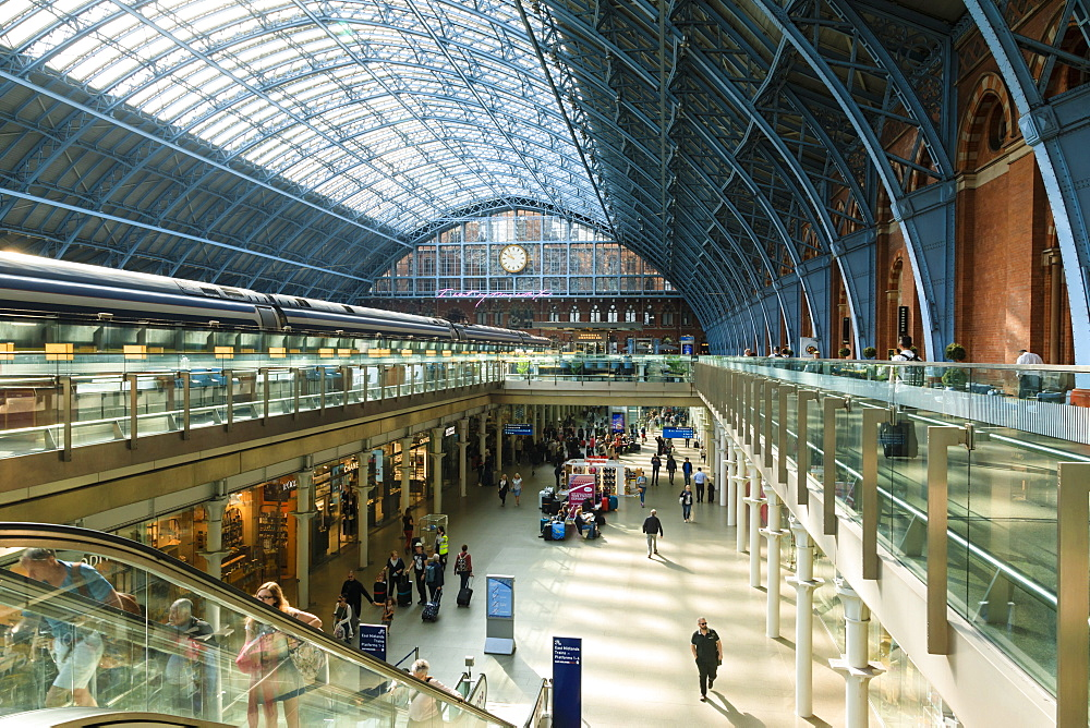 St. Pancras, historic Victorian Gothic railway station, London, England, United Kingdom, Europe