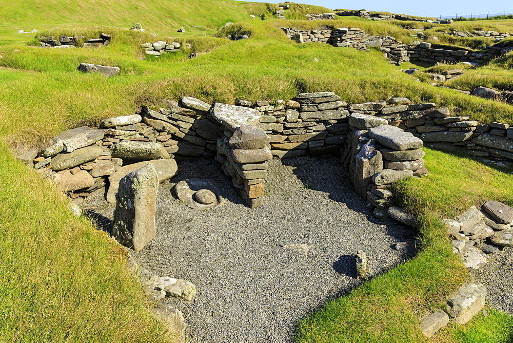Jarlshof Prehistoric and Norse Settlement, 4000 years old, Sumburgh Head, Mainland, Shetland Islands, Scotland, United Kingdom - 1167-1925