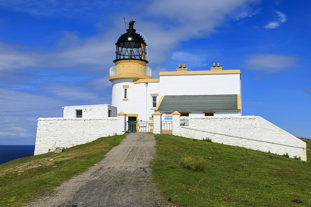 Stoer Head Stevenson Lighthouse, Summer, Stoer Peninsula, Lochinver, Sutherland, Scottish Highlands, Scotland, United Kingdom, Europe