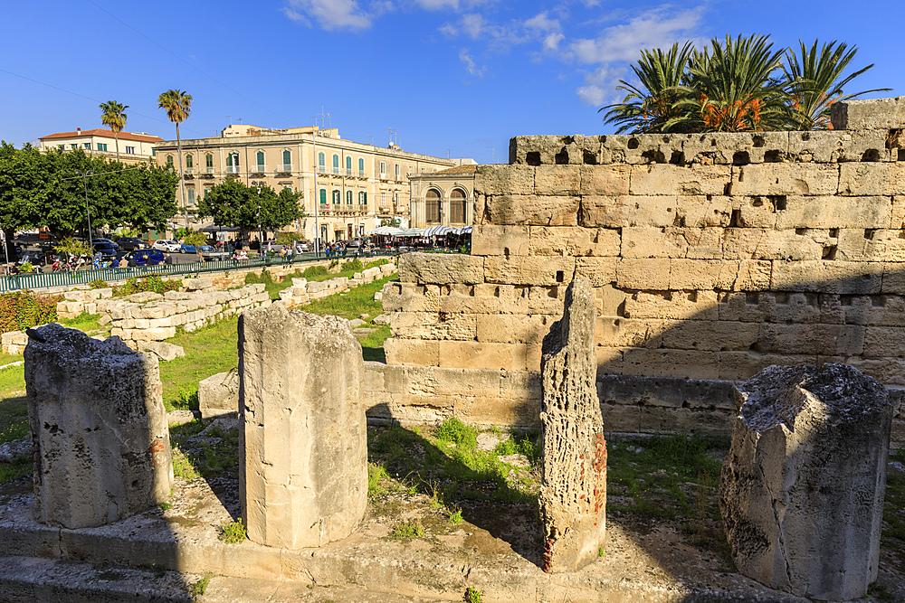 Temple of Apollo (Tempio di Apollo), Ortigia (Ortygia), Syracuse (Siracusa), UNESCO World Heritage Site, Sicily, Italy, Europe