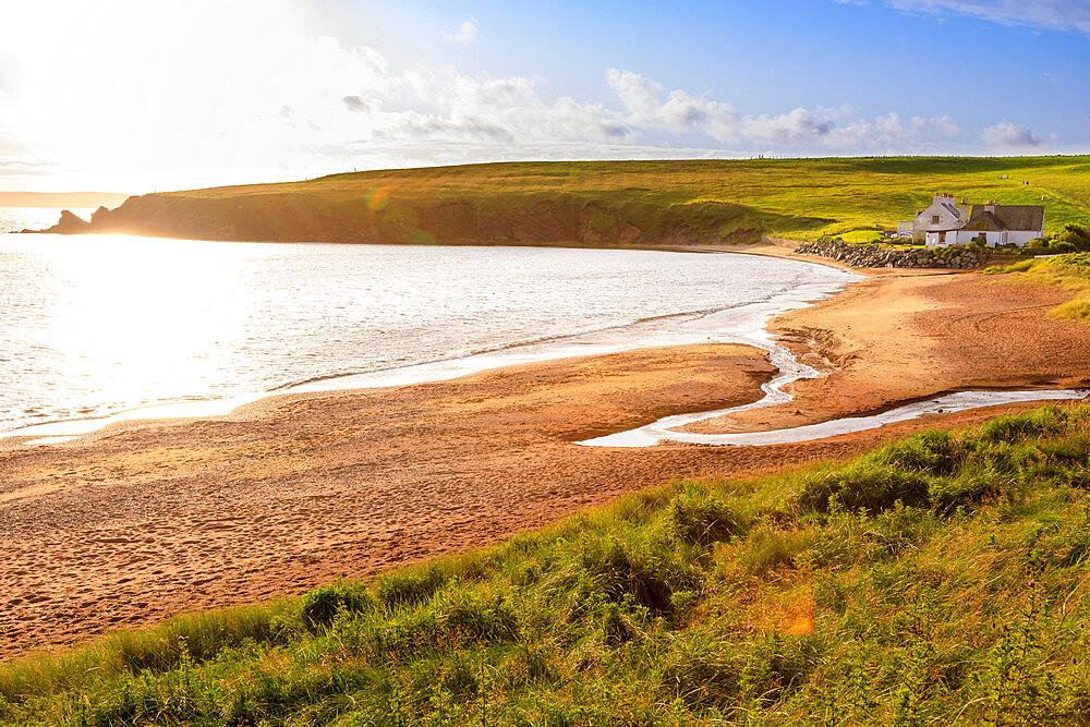 Reawick, red sand granite beach, unusual geology, coastal views, West Mainland, Shetland Isles, Scotland, United Kingdom, Europe - 1167-2165