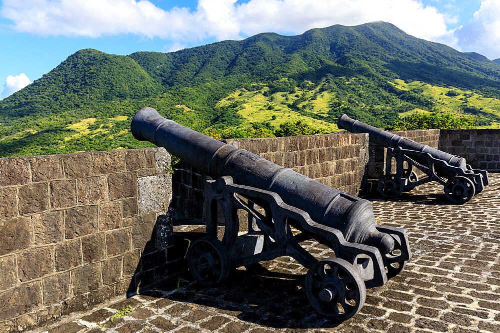 Citadel cannons, Brimstone Hill Fortress National Park, UNESCO World Heritage Site, St. Kitts, St. Kitts and Nevis, Caribbean
