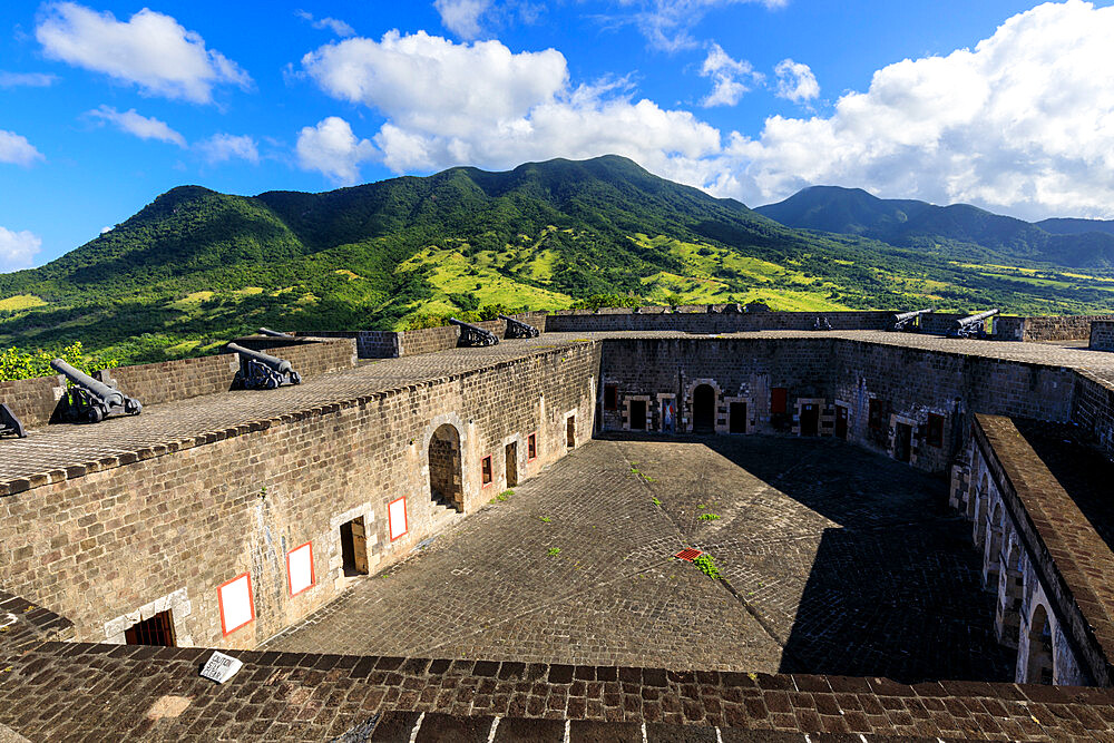 Citadel ramparts, Brimstone Hill Fortress National Park, UNESCO World Heritage Site, St. Kitts, St. Kitts and Nevis, Caribbean