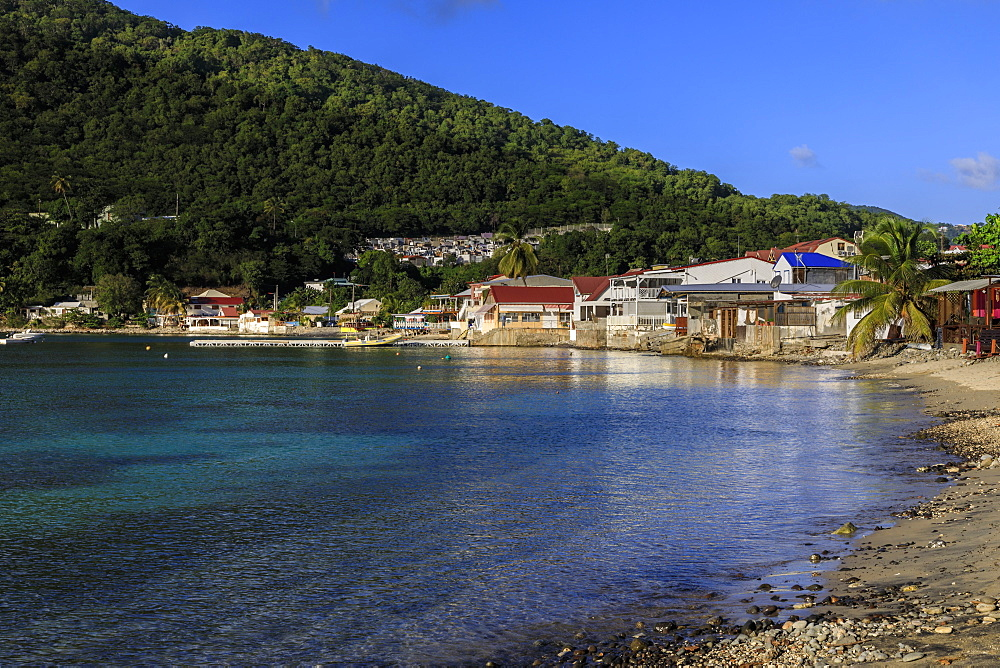 Deshaies waterfront, Death In Paradise Saint Marie location, Basse Terre, Guadeloupe, Lesser Antilles, West Indies, Caribbean
