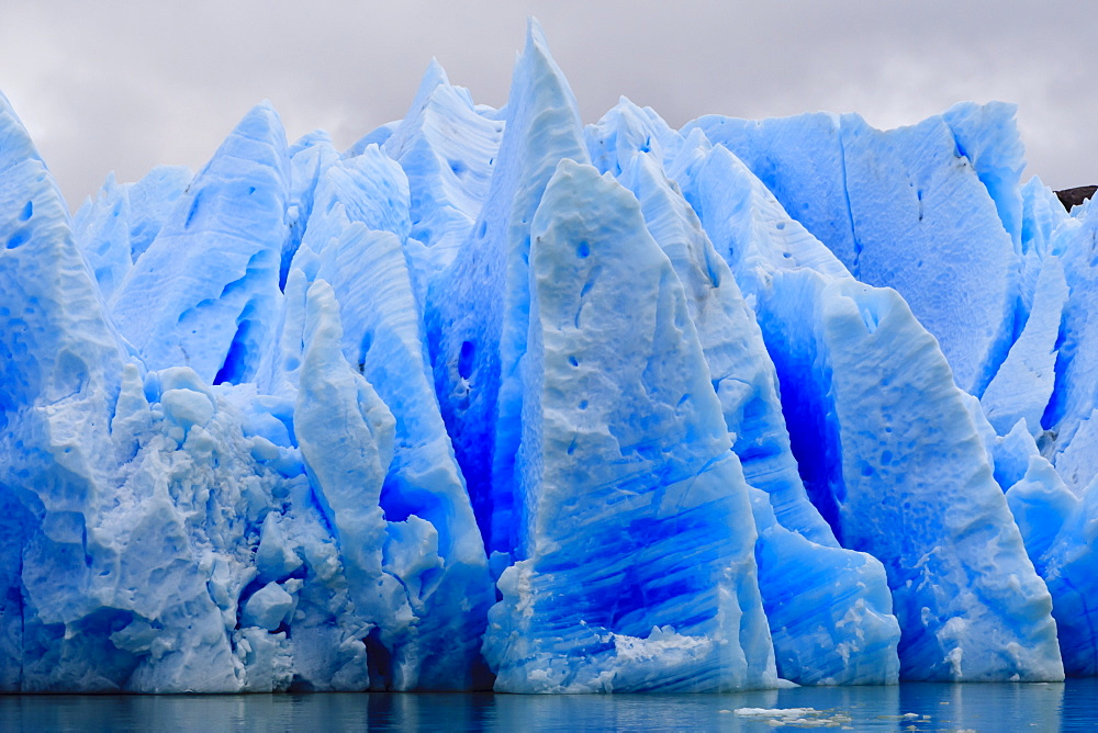 Blue ice, Grey Glacier, Torres del Paine National Park, Patagonia, Chile, South America